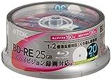 TDK 録画用ブルーレイディスク BD-RE 25GB 2倍速 ホワイトワイドプリンタブル 20枚スピンドル BEV25PWA20PK