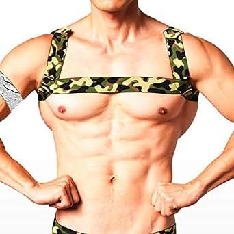L 迷彩柄 (ジーステーション) G-Station メンズ タンクトップ スリーブレス ノースリーブ 男性下着 インナーシャツ