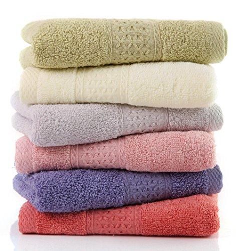 フェイスタオル 綿100% タオル 6枚6色組 やわらか 75cm*34cm (34 * 75cm)6枚6色)