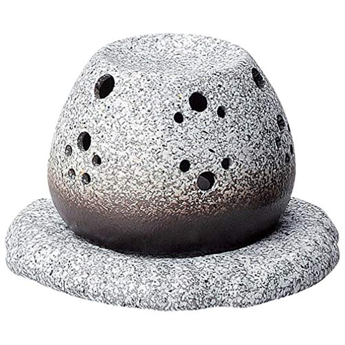 先のことを考える先祖浸食常滑焼 G1710 茶香炉  径11.5×10.5cm