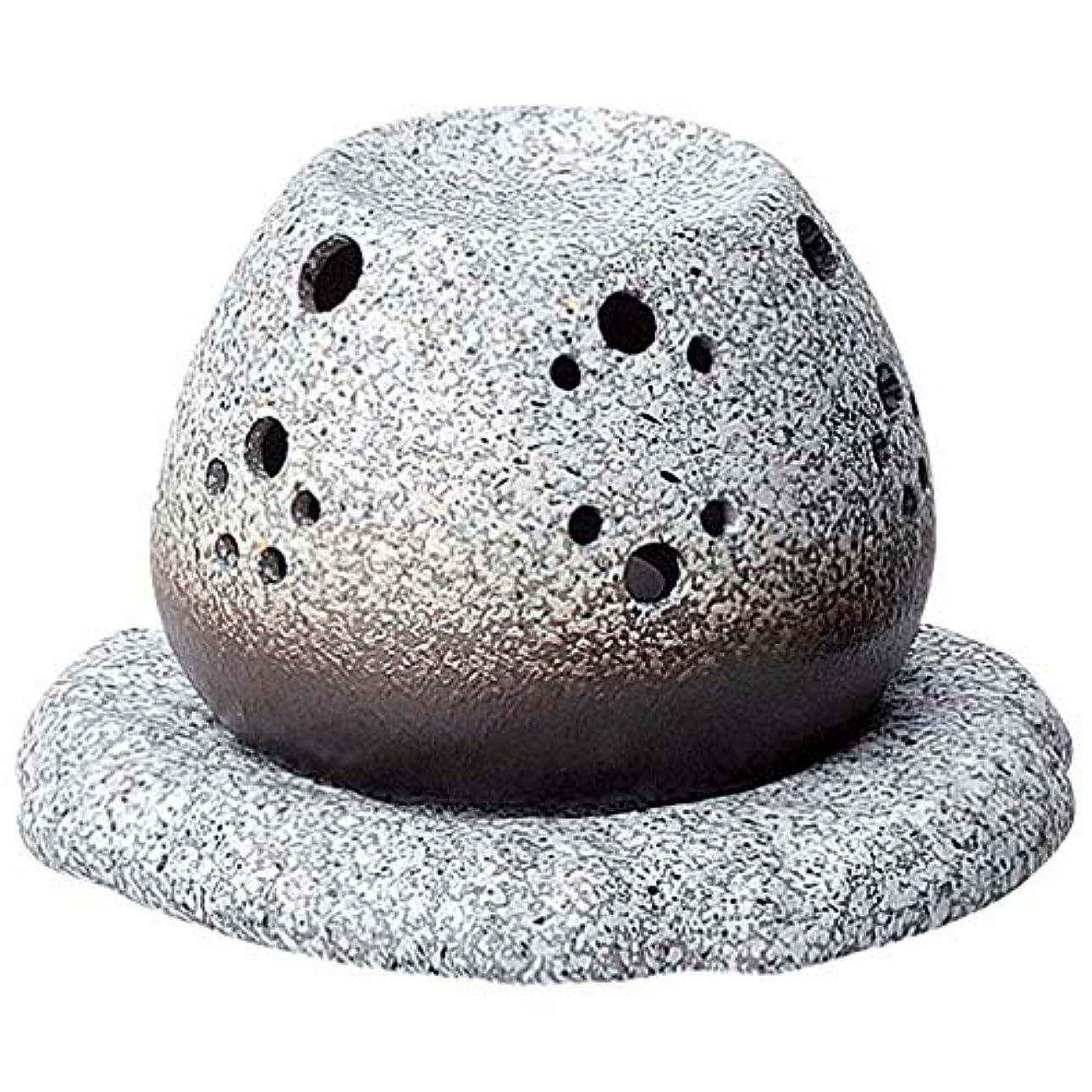 小間物思いにふける葡萄常滑焼 G1710 茶香炉  径11.5×10.5cm