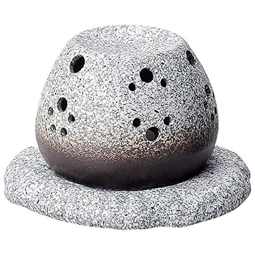 単語モーターガジュマル常滑焼 G1710 茶香炉  径11.5×10.5cm