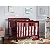 Dream on Me Ashton 5-in-1 Fixed-Side Convertible Crib, Cherry by Ashton