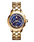 (トリーバーチ)Tory Burch TORY WATCH, GOLD-TONE/NAVY CHRONOGRAPH, 37 MM レディース 時計TRB1013 (並行輸入品) ddilddil