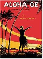 ハワイアンアートCollectible冷蔵庫マグネット–Aloha Oe音楽シート