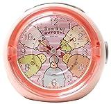 すみっコぐらし 目覚まし時計 LEDクロック 4曲メロディアラーム いつものすみっコ ピンク
