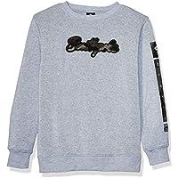 SOUTHPOLE Boys Fleece Crewneck Sweatshirt Sweatshirt - Black - Small