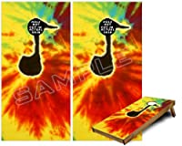 Cornhole Bag Toss Gameボードビニールラップスキンキット – Tie Dye Music Note 100 ( Fits 24 x 48ゲームボード – Gameboards NOT INCLUDED )