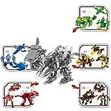 Opino 恐竜ビルディングブロック 1個/5個/セット 楽しいジュラシック恐竜模型組み立て組み立てブロック 教育玩具 キッズギフト (3種類) 06-10 マルチカラー 4476