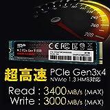 シリコンパワー SSD 2TB 3D NAND M.2 2280 PCIe3.0×4 NVMe1.3 P34A80シリーズ 5年保証 SP002TBP34A80M28 画像