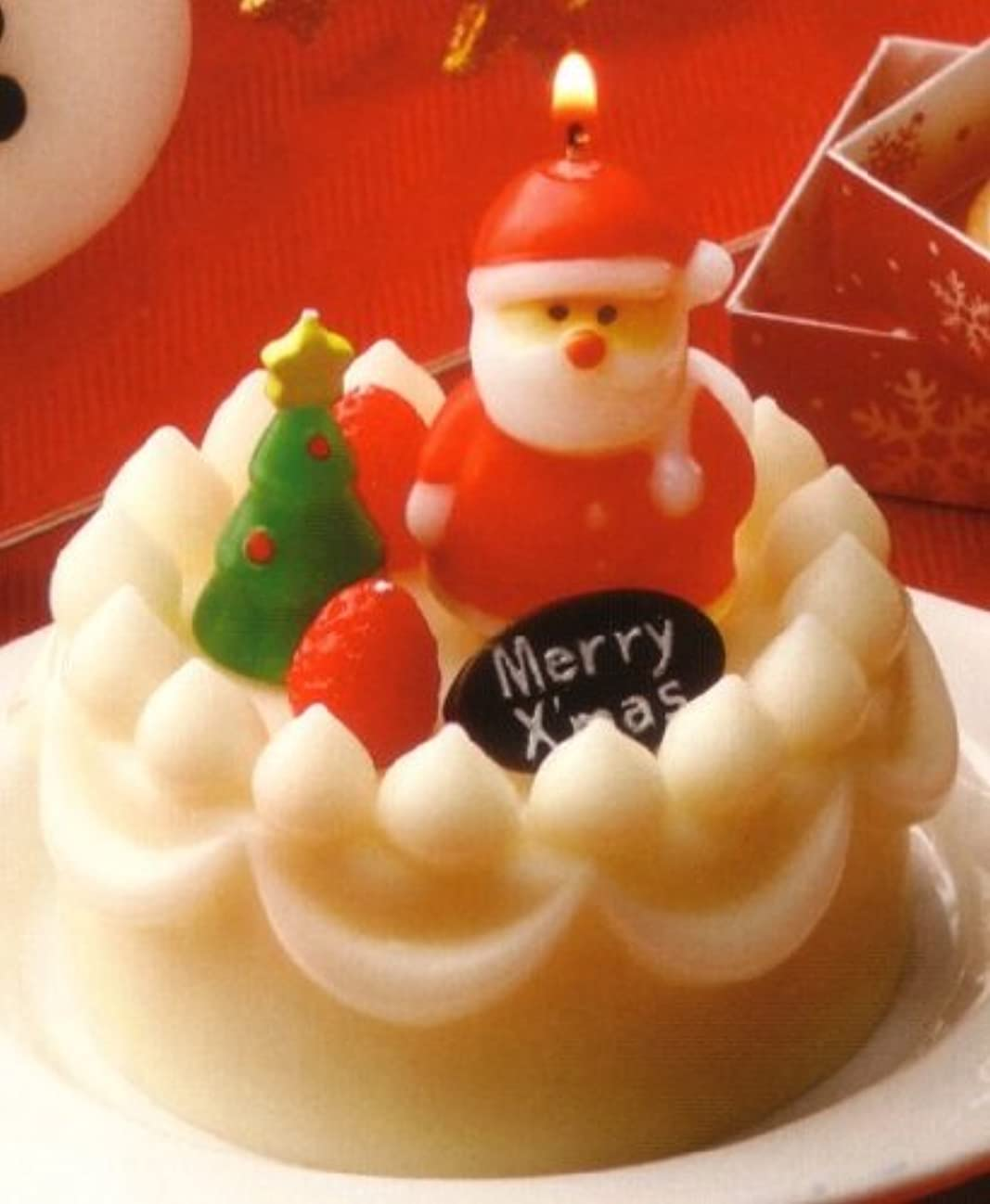 広範囲解任期待するクリスマスデコケーキキャンドル サンタ