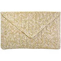 JNB Women's Straw Envelope Clutch