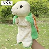 NSD かわいい アニマル パペット 人形 ぬいぐるみ (かめ)