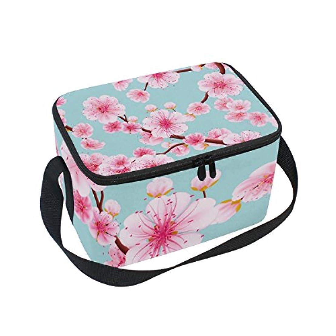 枝はいあごクーラーバッグ クーラーボックス ソフトクーラ 冷蔵ボックス キャンプ用品 梅の花 ピンク 保冷保温 大容量 肩掛け お花見 アウトドア
