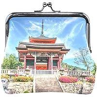 がま口 財布 口金 小銭入れ ポーチ 京都 神社 Jiemeil バッグ かわいい 高級レザー レディース プレゼント ほど良いサイズ
