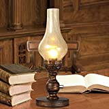 FSLiving ヨーロッパのレトロな灯油ランプ 電気スタンドベッド脇のランプ 銅ランプ 寝室、書斎、リビングルーム(それは電球が含まれていません。)