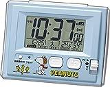 リズム時計 スヌーピー 電波目覚まし時計R126 ブルー 8RZ126RH04