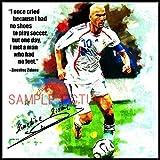 ジネディーヌ・ジダン フランス代表 海外サッカーアートパネル 木製 壁掛け インテリア ポスター (26*26cm アートパネルのみ)