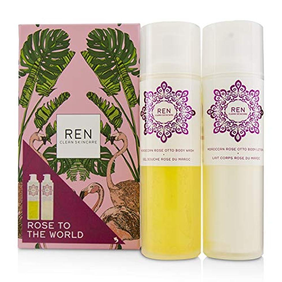 ハブブ会う歴史的レン Rose To The World Moroccan Rose Otto Set: Body Wash 200ml + Body Lotion 200ml 2pcs並行輸入品