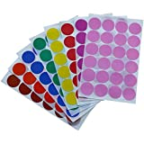 Dot sticker 2.5 cm - Color labels - 768 Pack by Royal Green