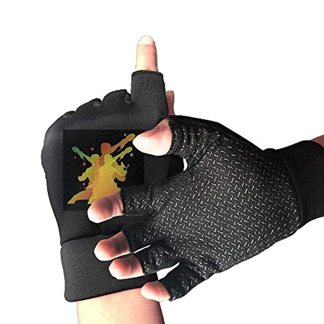 海嶺威信複雑Cycling Gloves Table Tennis Action Men's/Women's Mountain Bike Gloves Half Finger Anti-Slip Motorcycle Gloves