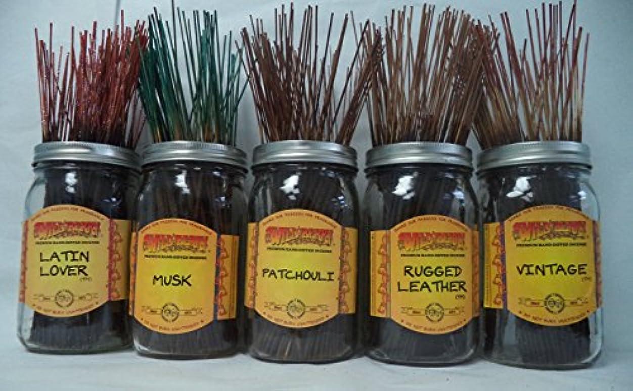 狭い無能模倣Wildberry Incense Sticks Earthy Scentsセット# 2 : 4 Sticks各5の香り、合計20 Sticks 。