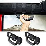 Voodonala Rool Bar Grab Handles Grip Handle for Jeep Wrangler TJ JK JKU JL & Gladiator JT 1955-2020, 2pcs
