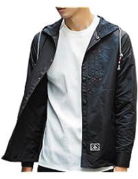 Keaac メンズ軽量フード付きウインドブレーカージャケット