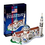 Ezhishop Basilica of the National Shrine of the Immaculate Conception DIY 3D Puzzle Model Toy- 44 Pieces