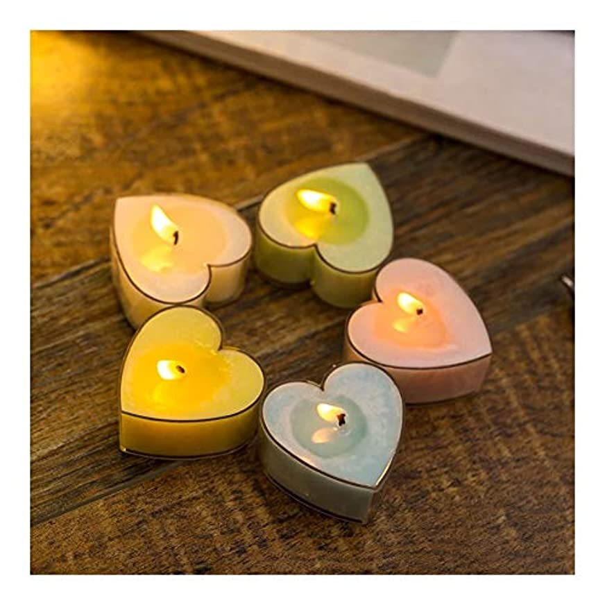 ACAO 家の多彩なモモの中心の香料入りの蝋燭のカップルの悪いギフトの小さい蝋燭 (色 : Night scent)