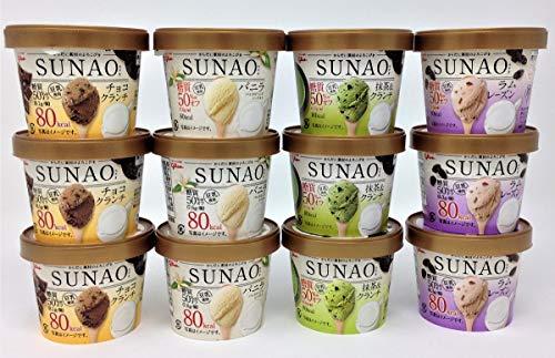 グリコ SUNAO(スナオ)アイスクリーム A バラエティ4種セット 12個