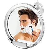 Jerrybox Fogless Shower Mirror with Built-in Razor Holder, Fog-Free Bathroom Shaving Mirror with Powerful Locking Suction Cup, 360°Rotating Adjustable Arm for Easy Viewing, Guaranteed Not to Fog 1X