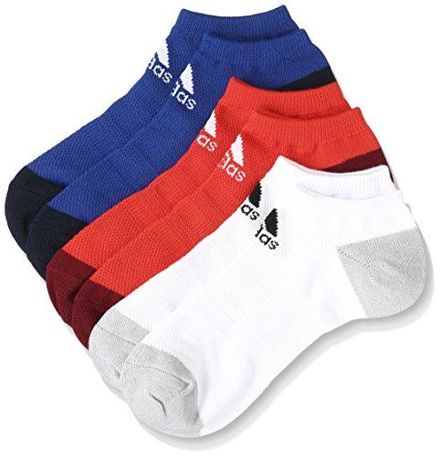 (アディダス) adidas トレーニングウェア メッシュ 3P アンクルソックス DMK54 [ユニセックス] BR6140 カレッジロイヤル/ホワイト/コアレッド S17 23-25cm