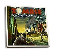 ゾンビApocalypse 4 Coaster Set LANT-43372-CT