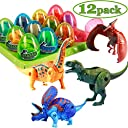 Tichan 12pcs クリエイティブ 変身恐竜動物 恐竜モデル 変形恐竜の卵のおもちゃ 子供のおもちゃ 玩具と子供 フルドール コング ミン ロック