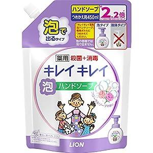 キレイキレイ 薬用 泡ハンドソープ フローラルソープの香り 詰め替え 450ml(医薬部外品)