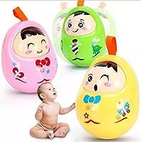 Keaner新生児幼児Roly - Polyおもちゃ幼児子Nod Cartoon Rattleタンブラー教育人形おもちゃ(ランダムカラー)