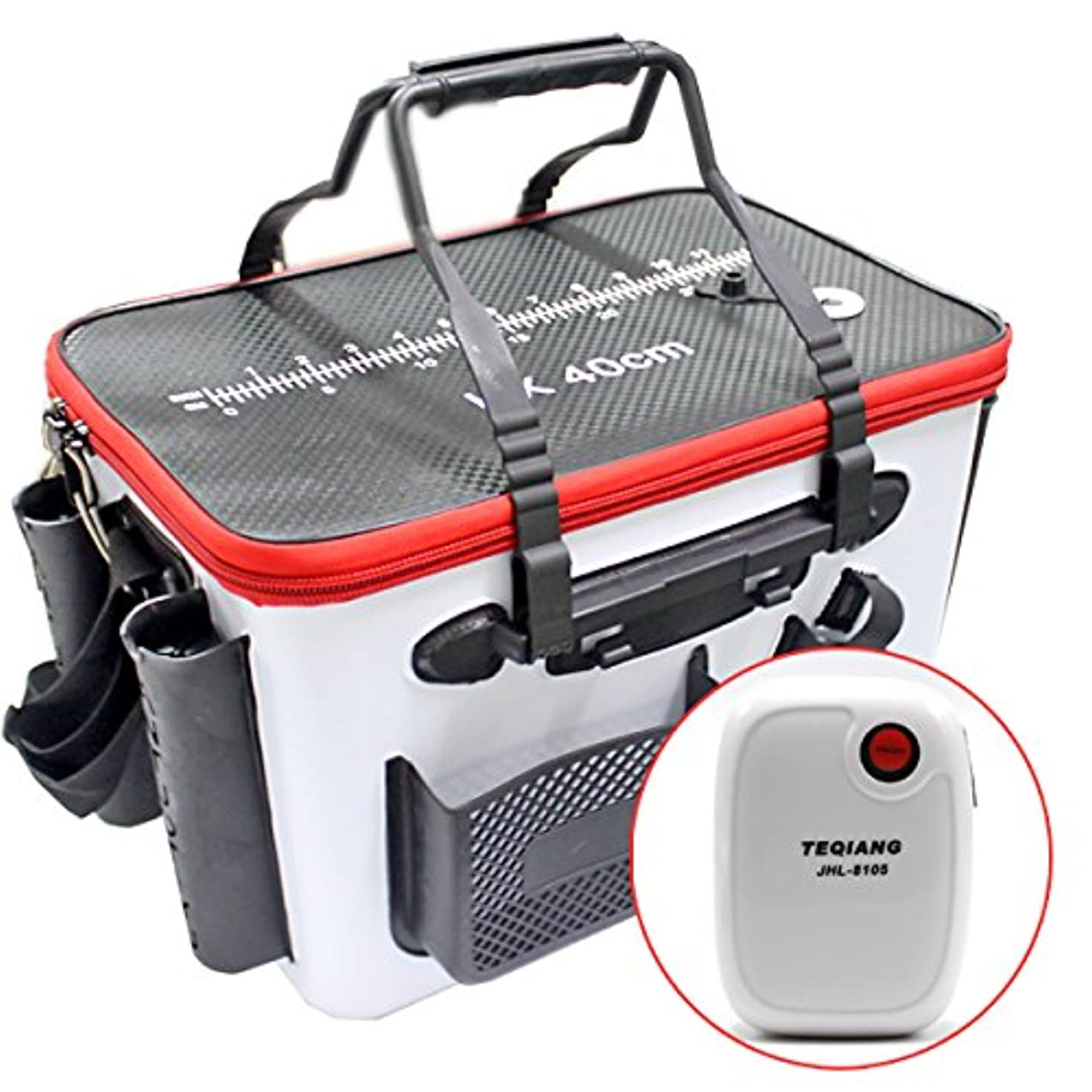 類人猿コンソール旅客EVA タックルバッグ キーパーバッカン 充電式エアーポンプ付 セット フィッシュキープ ロッドホルダー付