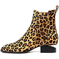 Mollini Isoly Ocelot Pony Womens Shoes Flat Ankle Boots