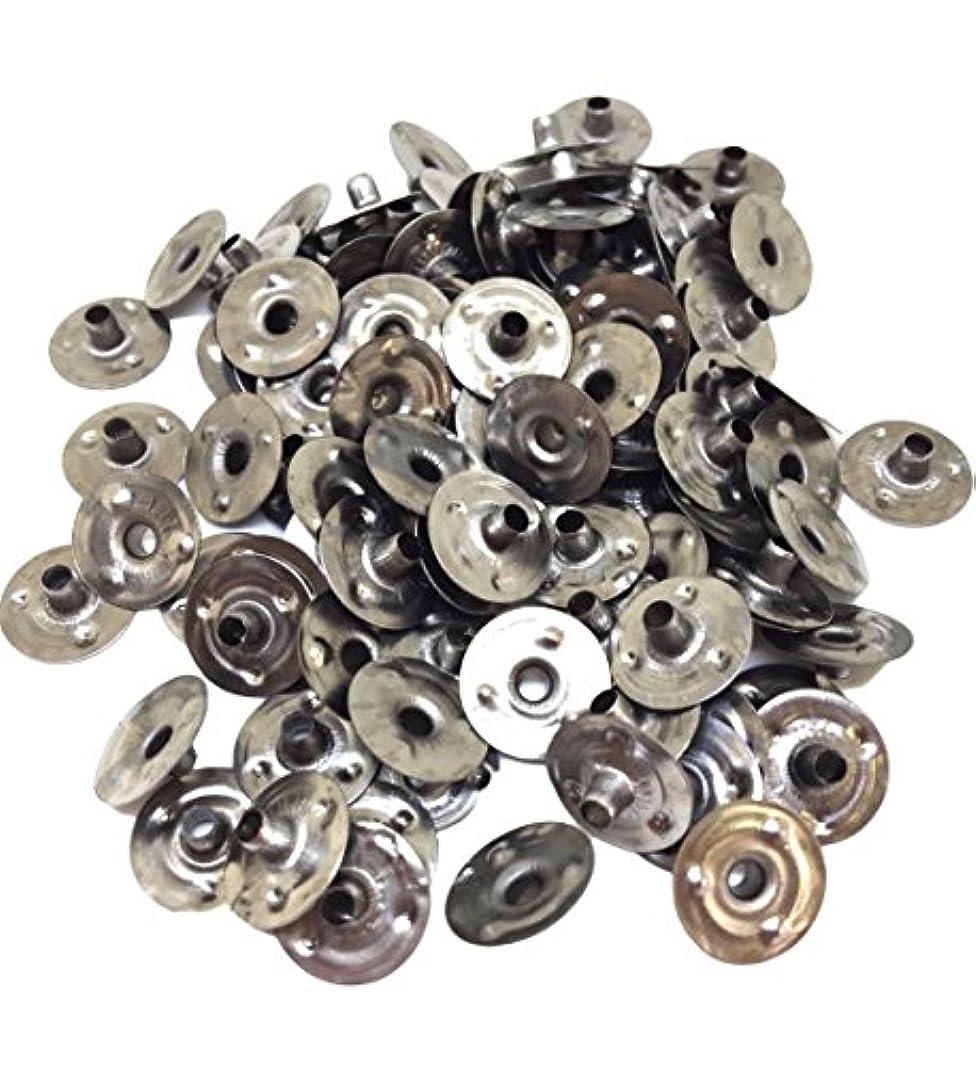 列挙する磁気説明するwumio 手作りキャンドル用 座金 100個セット ろうそく糸芯を固定するDIYキャンドル台座 材料パーツ