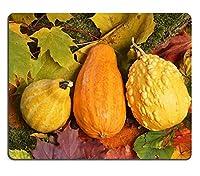 秋の色明るい紅葉とカボチャの画像24679457カスタマイズされた長方形のマウスパッドファッション、ゲーミングマウスパッドファッションマウスマット