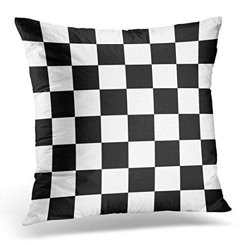 upoosスロー枕カバーCheckerboardシミュレートブラックandホワイトチェス盤チェスボード装飾枕ケースホーム装飾正方形枕 20 x 20 inches グリーン