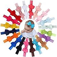 Baby Girls 3Inch 4.5Inch Grosgrain Ribbon Hair Bows Headbands Hair Accessories