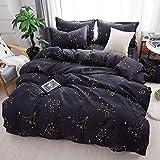 Dreamort Bonsai Cactus Pastoral 3or4Pcs Bedding Set Twin Full Queen King Size Bed Sheet+Duvet Cover+Pillowcase : color2, Twin 2 Size 4pcs, Flat Bed Sheet