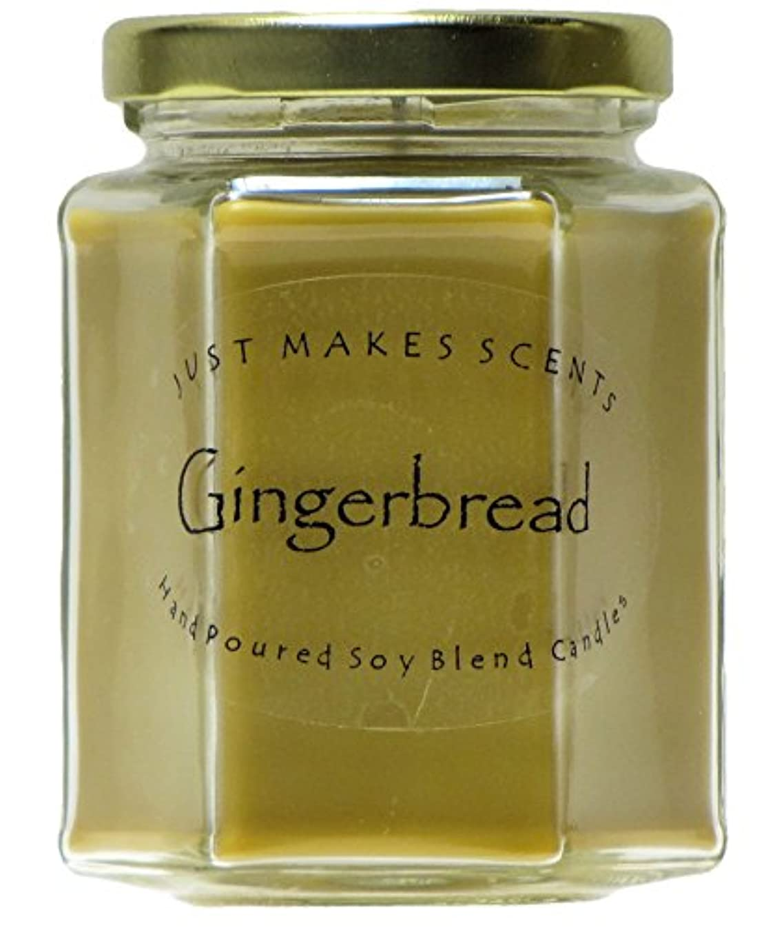 感覚多数の戻すGingerbread香りつきBlended Soy Candle by Just Makes Scents