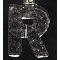 CC Christmas Decor 31319852 4 in. Antique-Style Speckled Glass Monogram Letter R Christmas Ornament