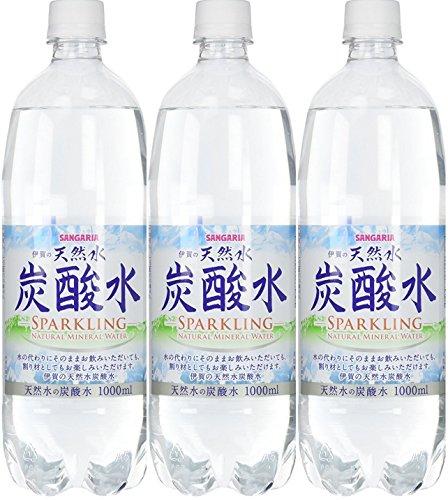 サンガリア 伊賀の天然水 炭酸水 ペット 1L