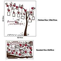 WAYDQT ローズフラワーツリーフォトアルバムウォールステッカー用子供部屋壁壁画家の装飾部屋キッズアートデカール壁紙バレンタインデー