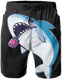 メンズ 水着花 サメ 男性スポツパンツビーチパンツ 通気速乾