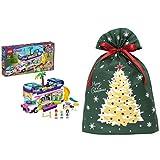 レゴ(LEGO) フレンズ フレンズのうきうきハッピー・バス 41395 + インディゴ クリスマス ラッピング袋 グリーティングバッグ3L クリスマスツリー ダークグリーン XG984